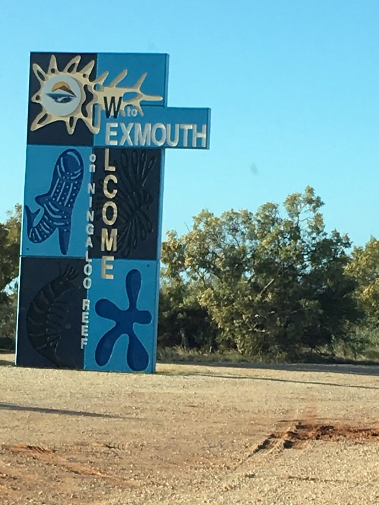 Sign Saying Welcome To Exmouth