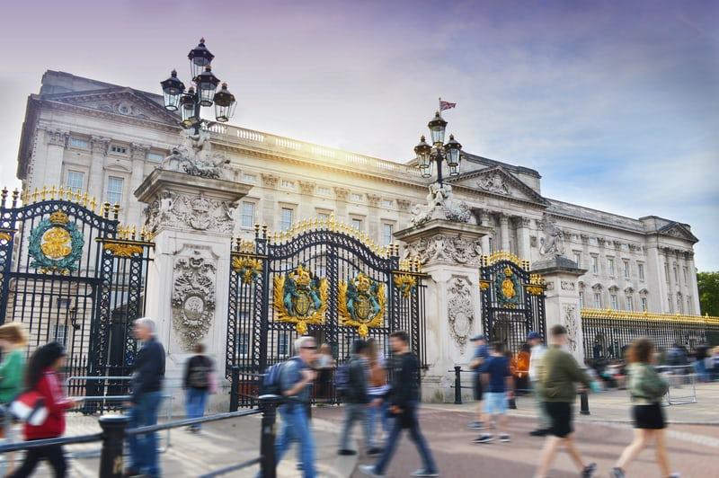 Buckingham Palace, people walking past, A Right Royal Retirement