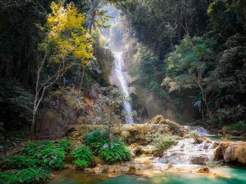 Waterfall cascading down, Your Retirement Paradise.